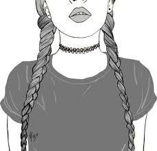 Resultado de imagen de dibujos faciles de chicas tumblr  Art
