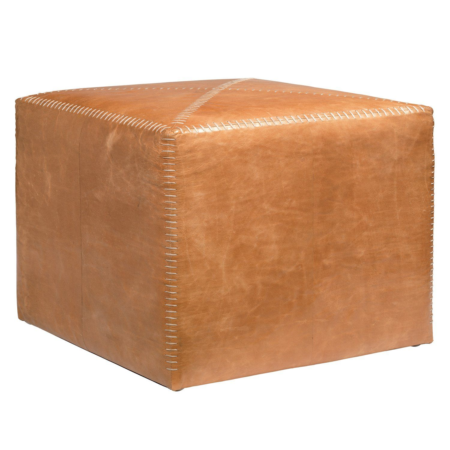 Swell Jamie Young Leather Buff Ottoman F U R N I S H Leather Ncnpc Chair Design For Home Ncnpcorg