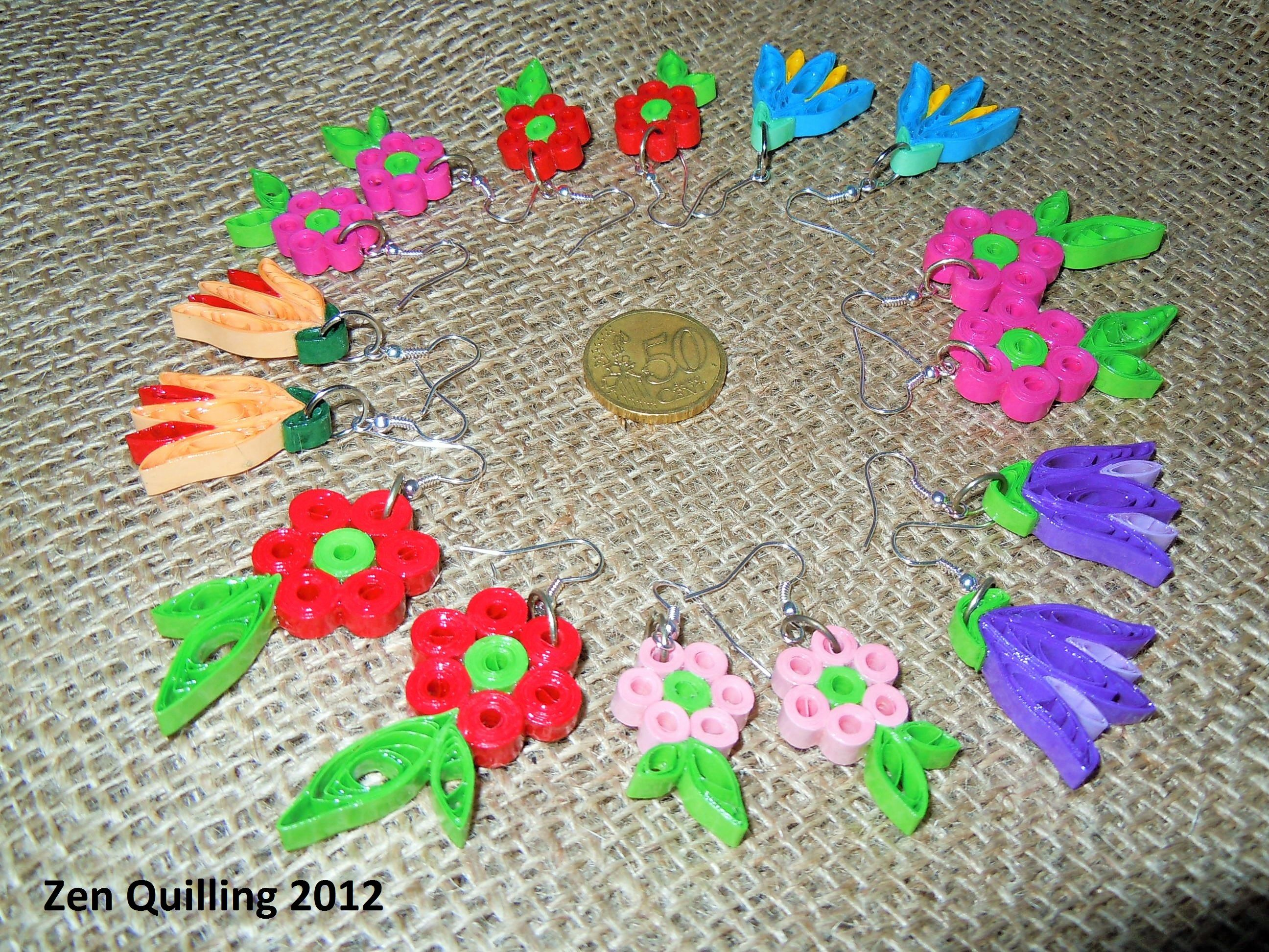 Pin by zdenka on quilling my earrings pinterest quilling