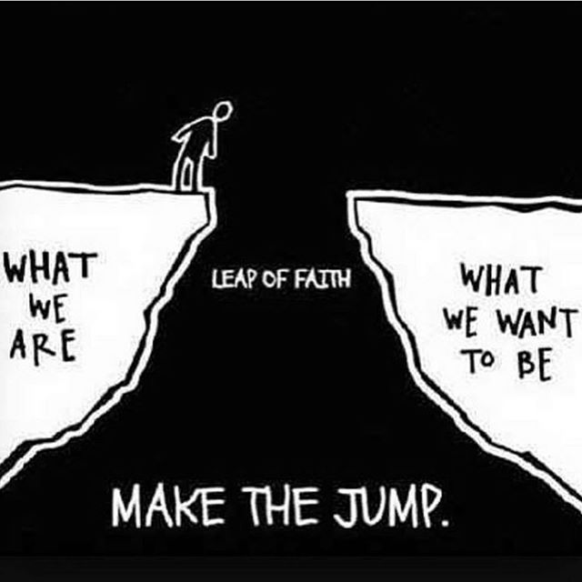 Make the jump #everythingtogain #trustyourself #bebold