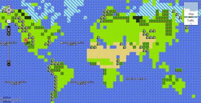 Google Maps 8-bit, cool!