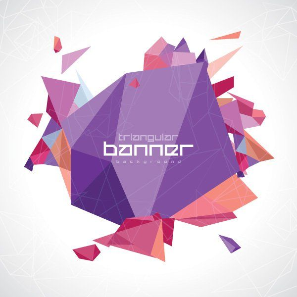 Triangular banner vector graphic decoration invitation abstract geometrical banner with triangles toneelgroepblik