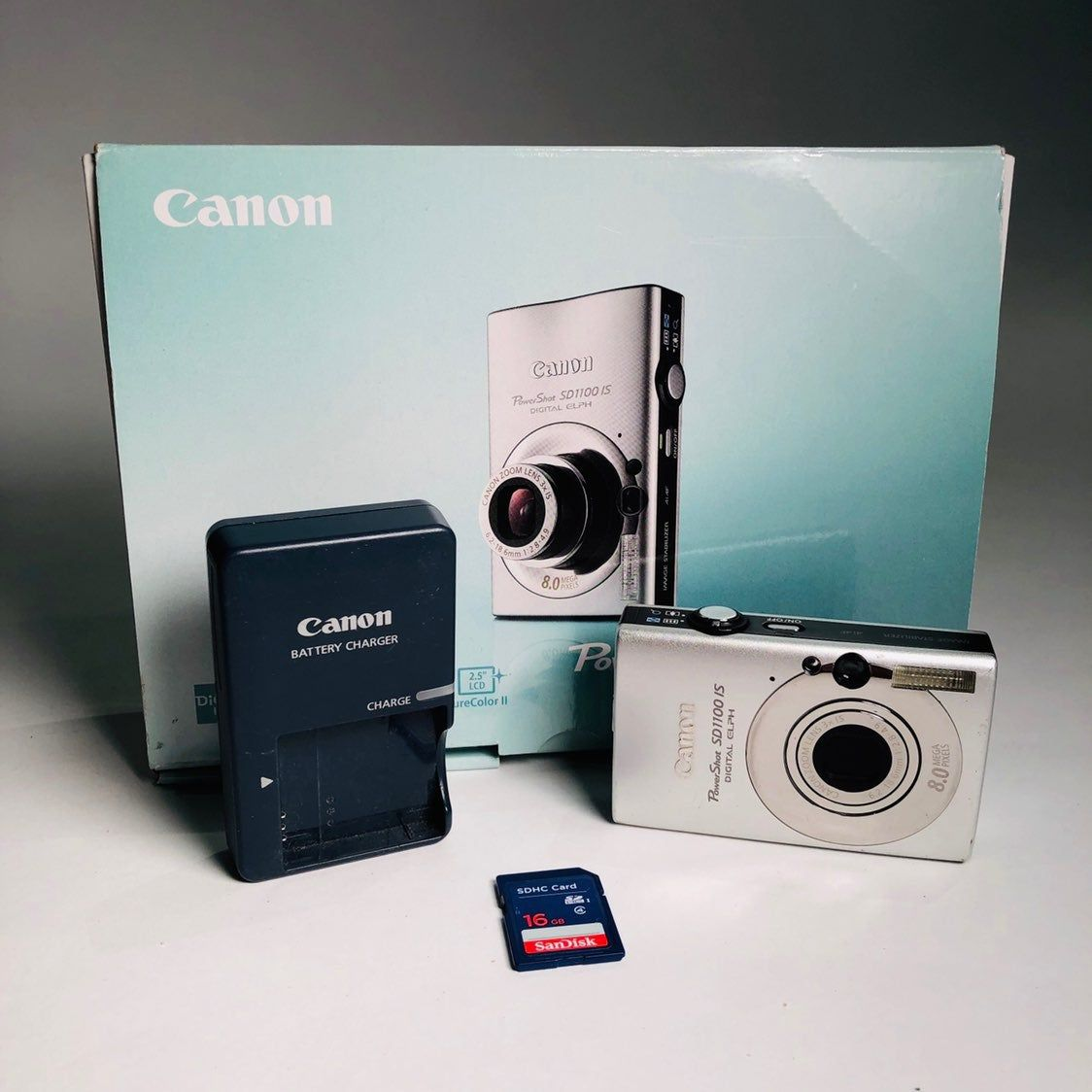 Canon Powershot Digital Elph Sd1100 Is 8 0mp Digital Camera Includes Camera Charger Battery 16gb Memory Card I Digital Camera Canon Powershot Memory Cards