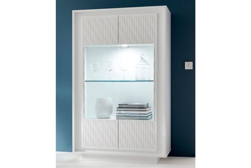 Vitrine 2 Portes Vesta Blanc Laque Mat Salon Pinterest Grande