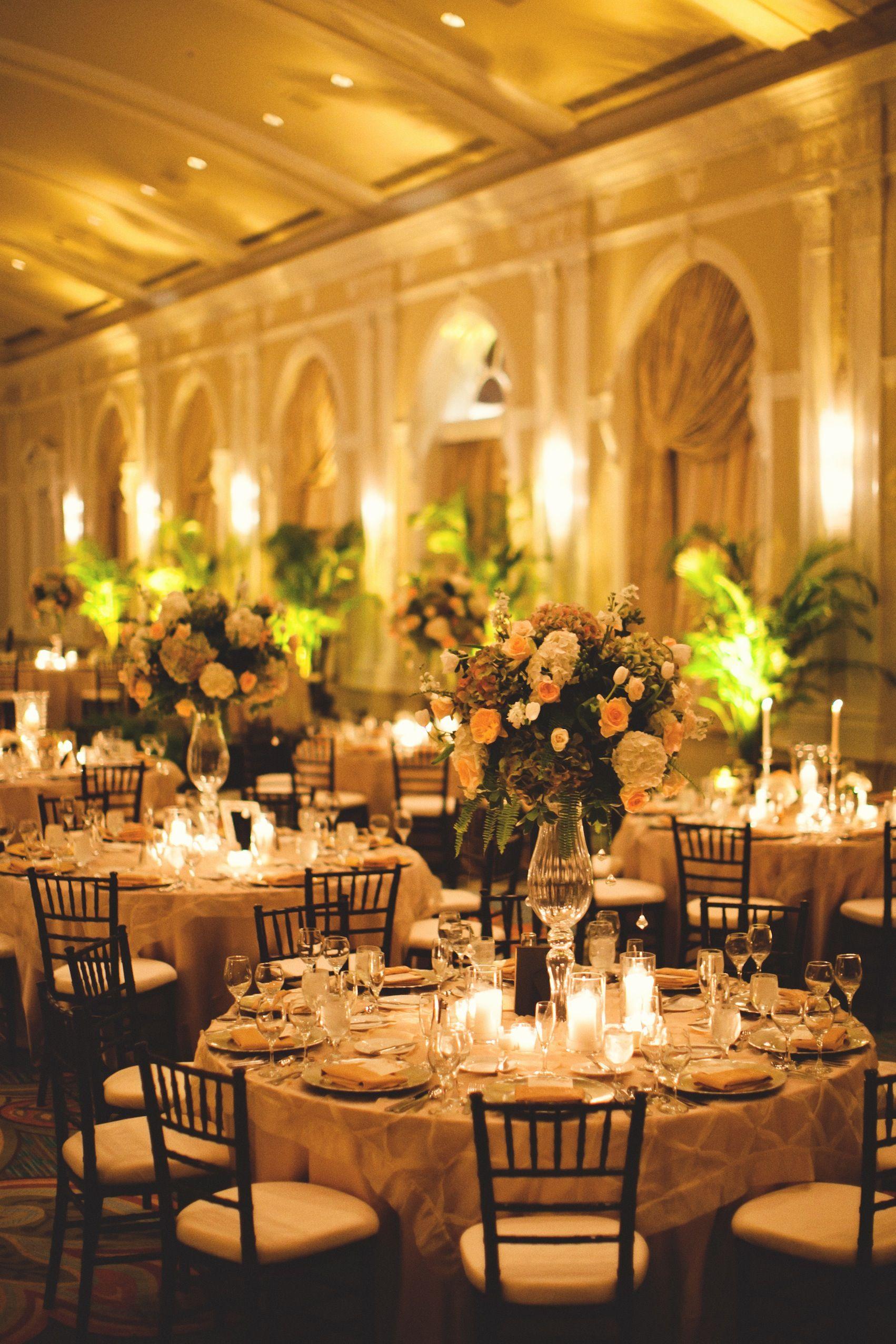 decor and floralbotanica at grand ballroom wedding