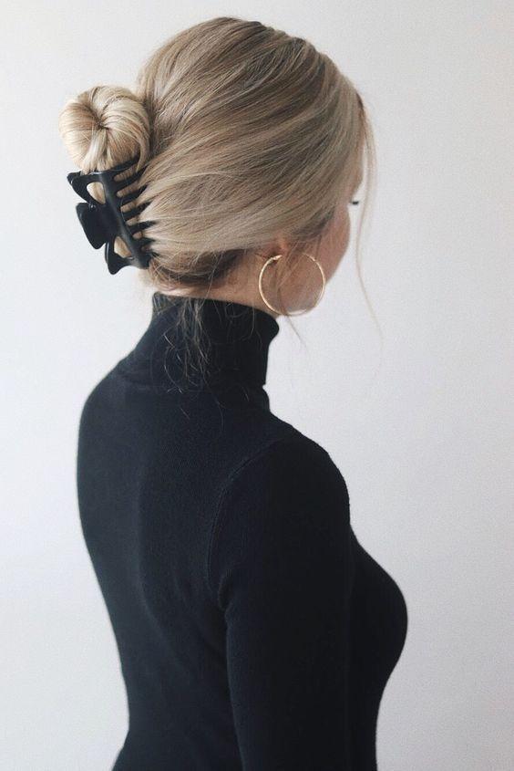 20 Simple Hairstyles for Work - Topkerja.com, #Hairstyles #Simple #Topkerjacom #Work
