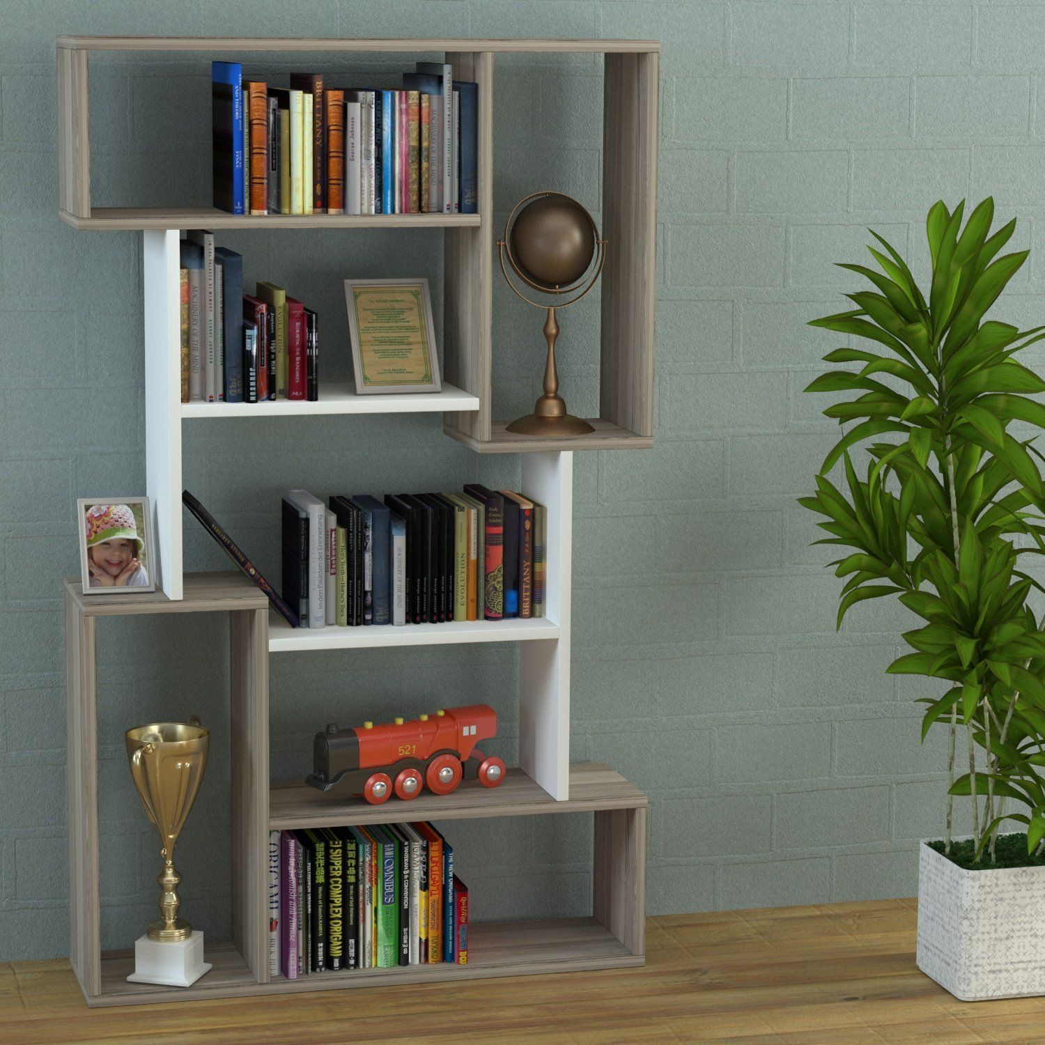 Ultimate White Bookcase Shelving Unit Room Divider Office Shelf