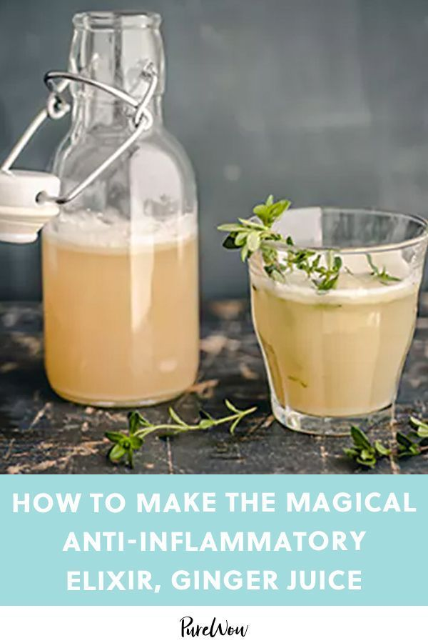 How to Make Ginger Juice, the Magical Anti-Inflammatory Elixir You Need in Your Life #purewow #recipe #cooking #drink #food