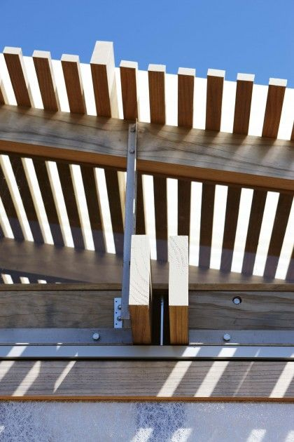 Timber slats for the patio