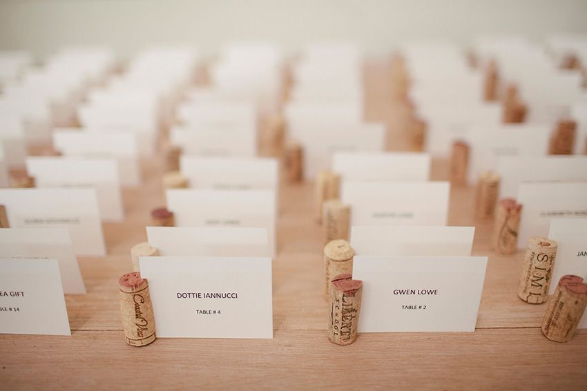 Wine Cork Escort Cards To Go With The Wine Cork Table