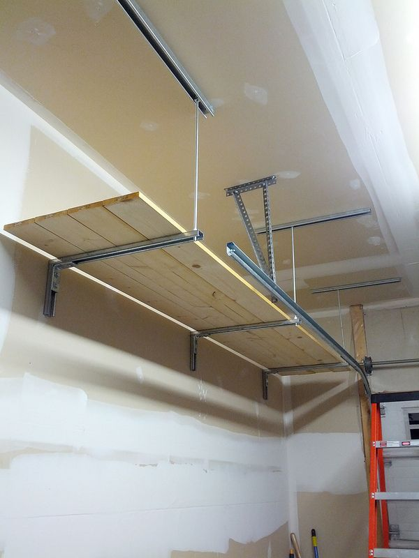 Ceiling Supported Garage Shelves Beginnerwoodworking
