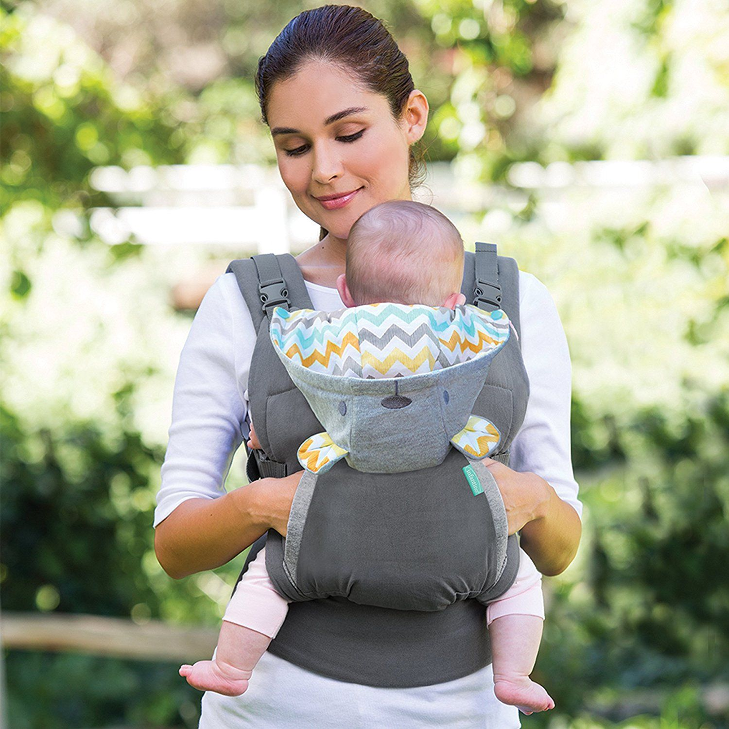 Infantino Cuddle Up Ergonomic Hoodie Carrier Grey Baby Must Haves
