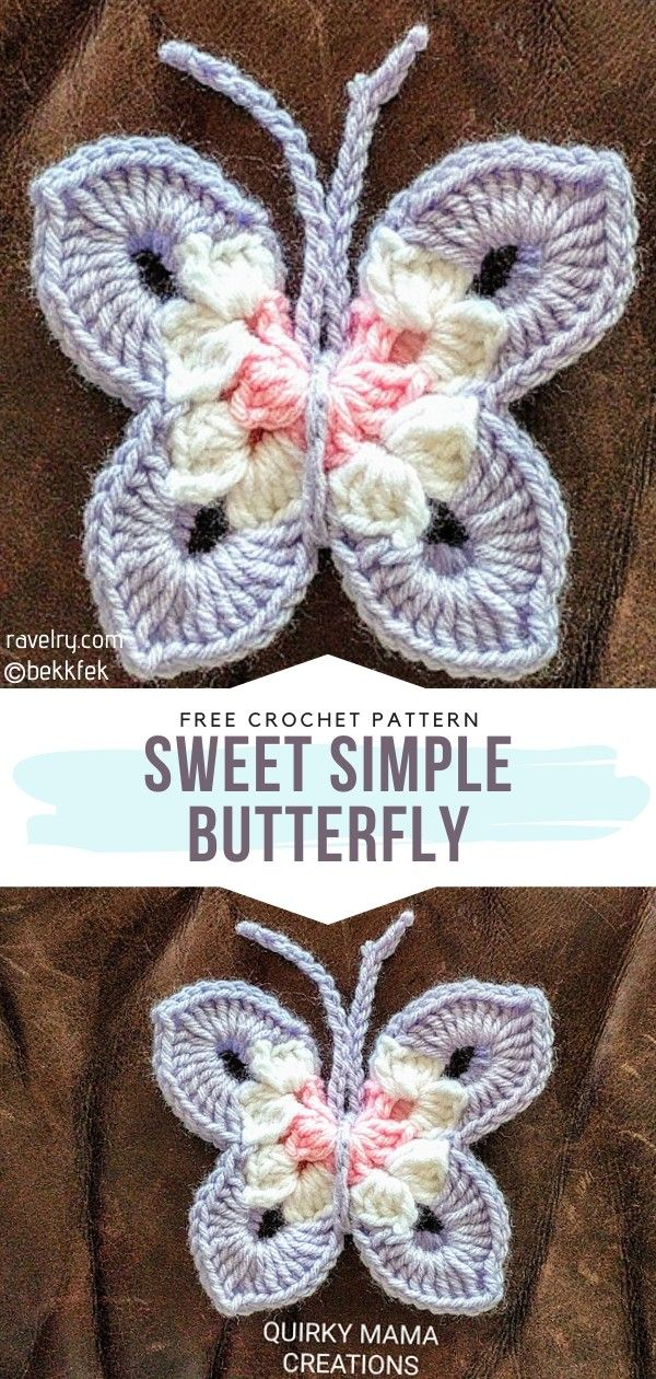 How to Crochet Sweet Simple Butterfly