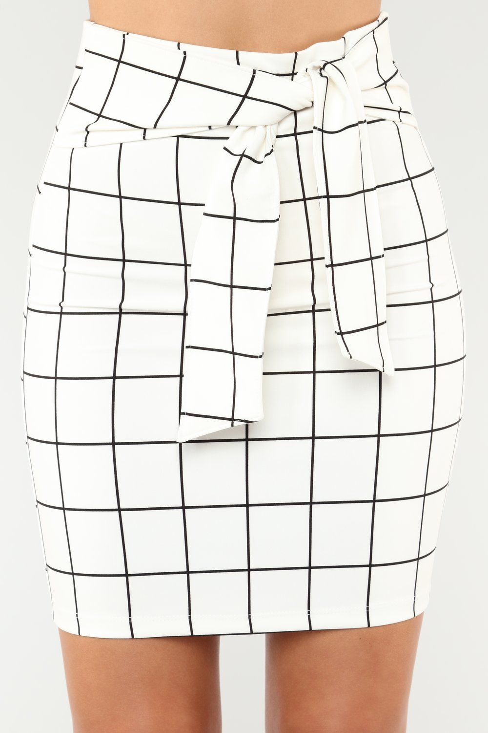 bb610b491 No Loose Ends Tie Waist Skirt - White in 2019 | clothes → bottoms ...