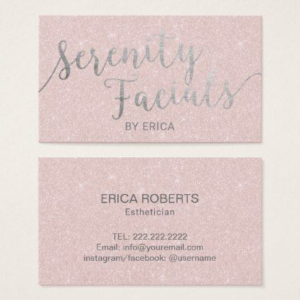 Serenity facials skincare salon spa esthetician business card serenity facials skincare salon spa esthetician business card artists unique special customize presents colourmoves