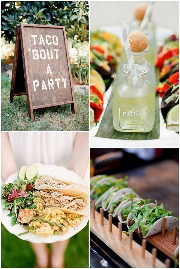 15 wedding food stations your guests will love sparkling for Food bar wedding reception