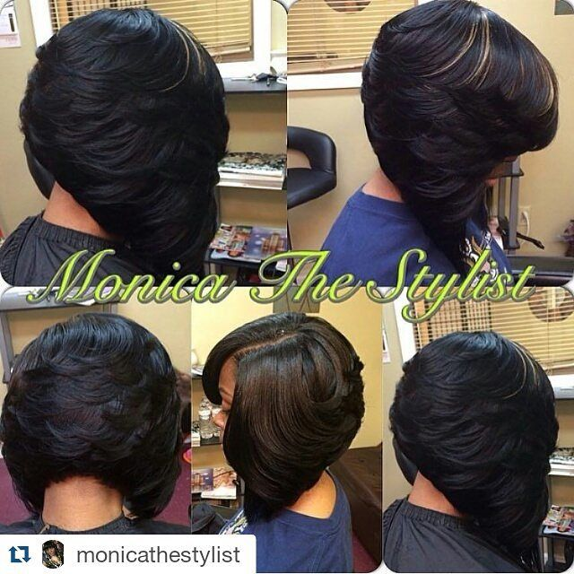 Head2toe Magazine On Instagram Repost Monicathestylist With Repostapp Hairstylist Salons Pretty Hair Weave Bob Hairstyles Feathered Bob Bob Hairstyles