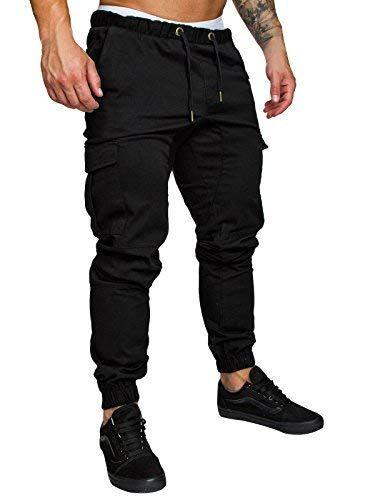 Herren Hose Cargo Chino Jeans Stretch Jogger Sporthose Slim