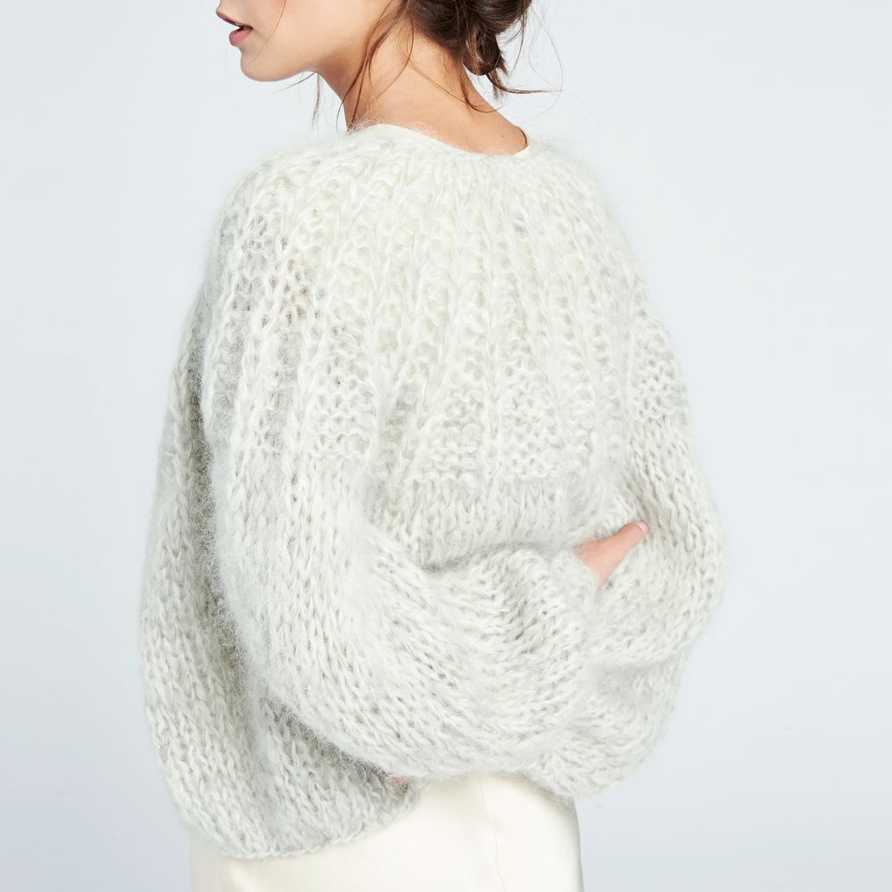 Mohair Pleated Cardigan | Knitting sweaters, Knitting patterns and ...