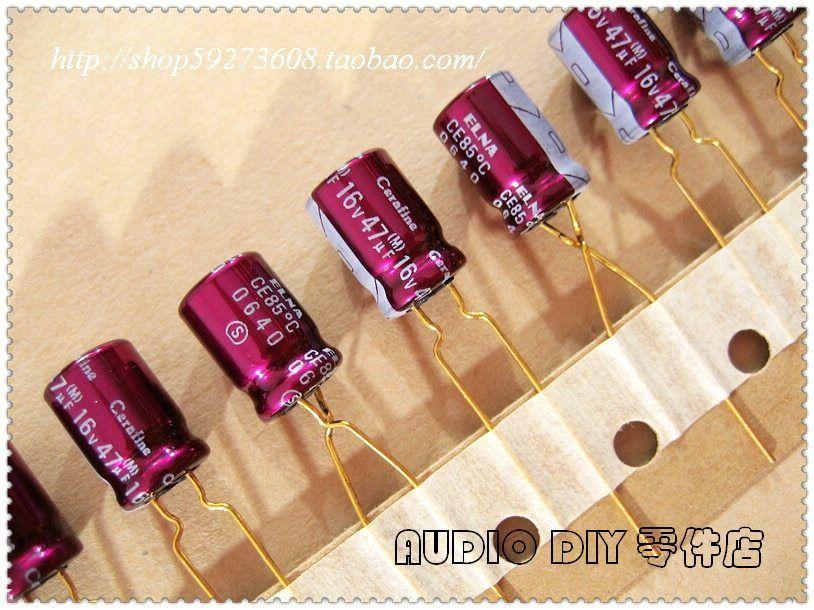 10//100pcs ELNA 10uF 50V CE-BP RBD Audio Non-Polar Electrolytic Capacitor 5x11mm