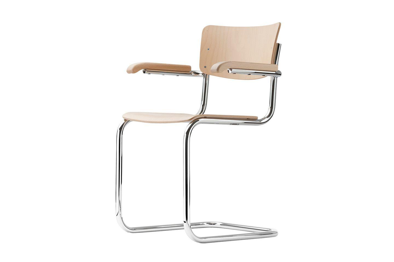 Stahlrohr Klassiker S 43 - ein exemplarischer Entwurf im Geiste der Moderne - THONET-Möbel - Stühle, Tische, Sessel und Sofas, Design-Klassiker aus Bugholz und Stahlrohr