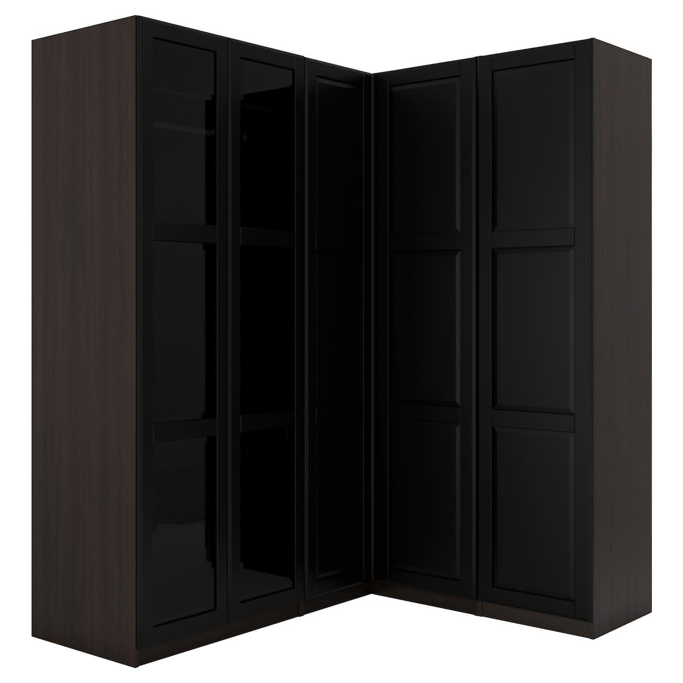 IKEA PAX blackbrown Corner wardrobe Frame colour