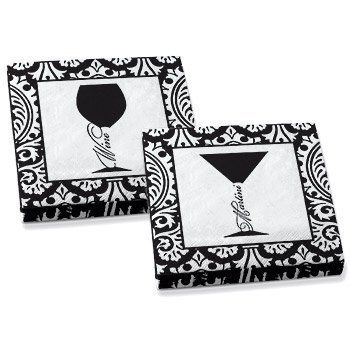 Martini and Wine Design Cocktail Party Napkins (10 each design per pack) by Epic Products. $5.60. Cocktail Napkins in an Art Deco Design. These 3-ply napkins come 20 per pack with 2 different designs: 10 of each Art Deco inspired design.