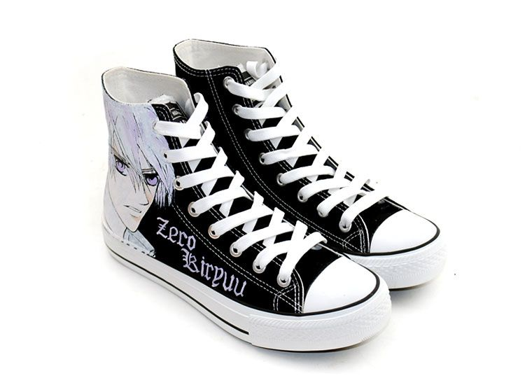 Knight Zero Kiryu Hand Painted High Top Cartoon Canvas S, Hand Painted High  Shoes, Cosplay Hand Drawing Shoes