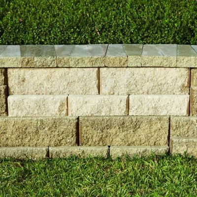 Retaining Wall Home Depot pavestone 3.4 in. x 9 in. concrete rockwall pecan medium retaining