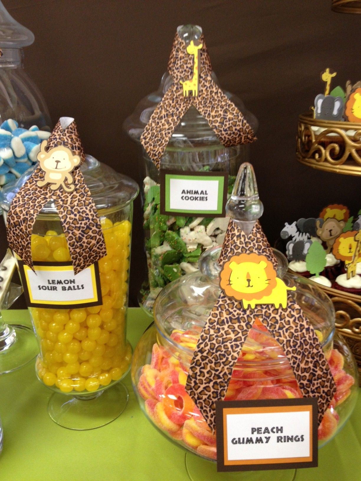 Safari Jungle Candy Buffet By Oc Sugar Mama Safari Candy