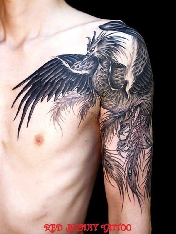 Tatuaje De Ave Fenix En El Brazo Tatuaje Ave Fenix Mujer Tatuaje De Phoenix Diseno Del Tatuaje Del Fenix