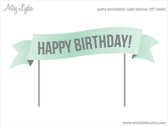 Brilliant Custom Cake Banner Printable Cake Topper Diy Party By Artsylydia Birthday Cards Printable Opercafe Filternl
