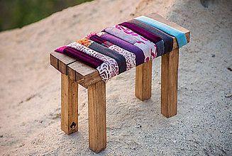 Nábytok - taburetka z masívneho dreva Desert Flower - 5784365_