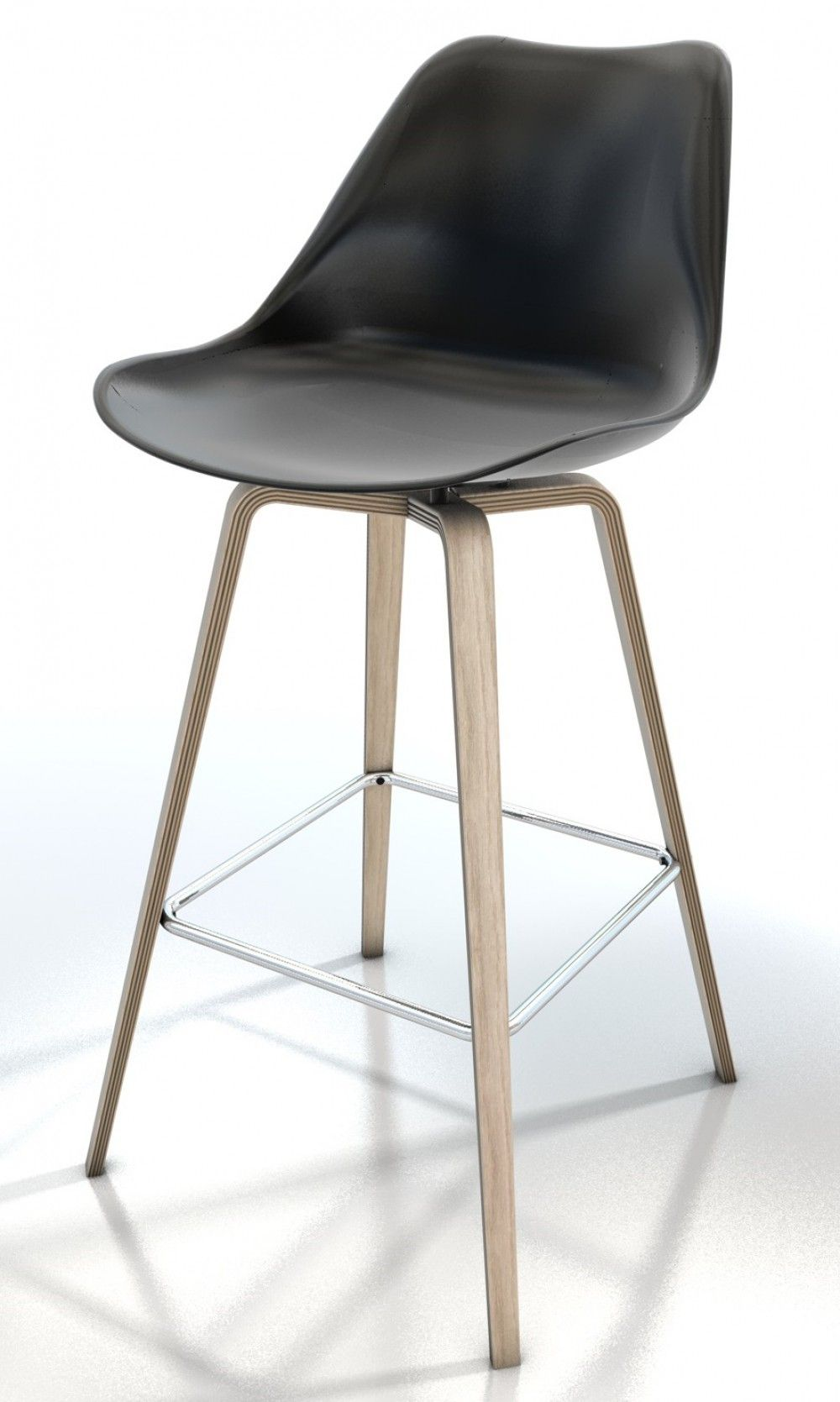 Barhocker Schwarz, Barstuhl gepolstert, Sitzhöhe ca. 70 cm ...