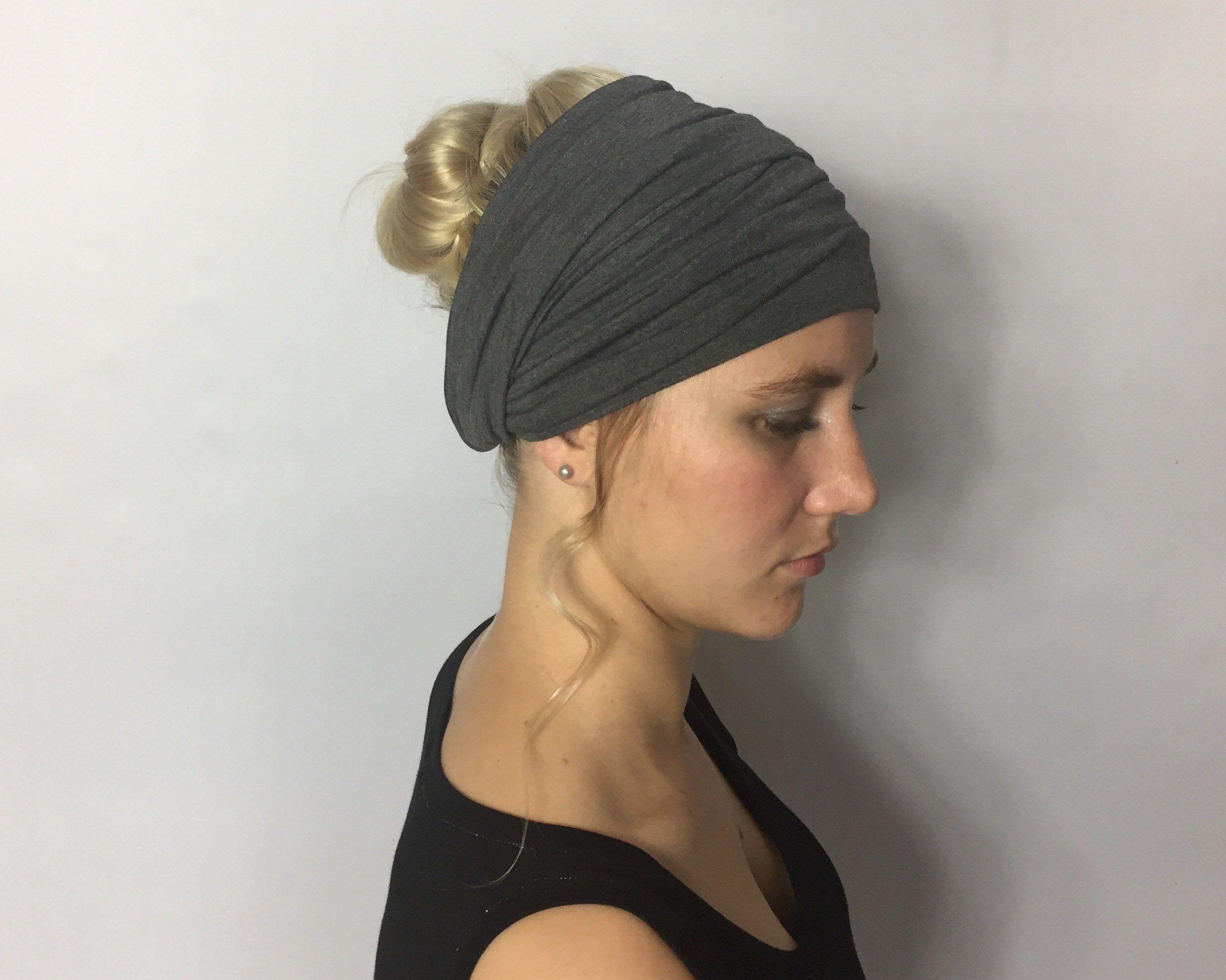 Excited to share this item from my  etsy shop  Dark Grey Head Wrap - Fashion  Headbands - Fashion Turban - Extra Wide Headband - Turban Headband - Boho  Head ... ec9258760ca