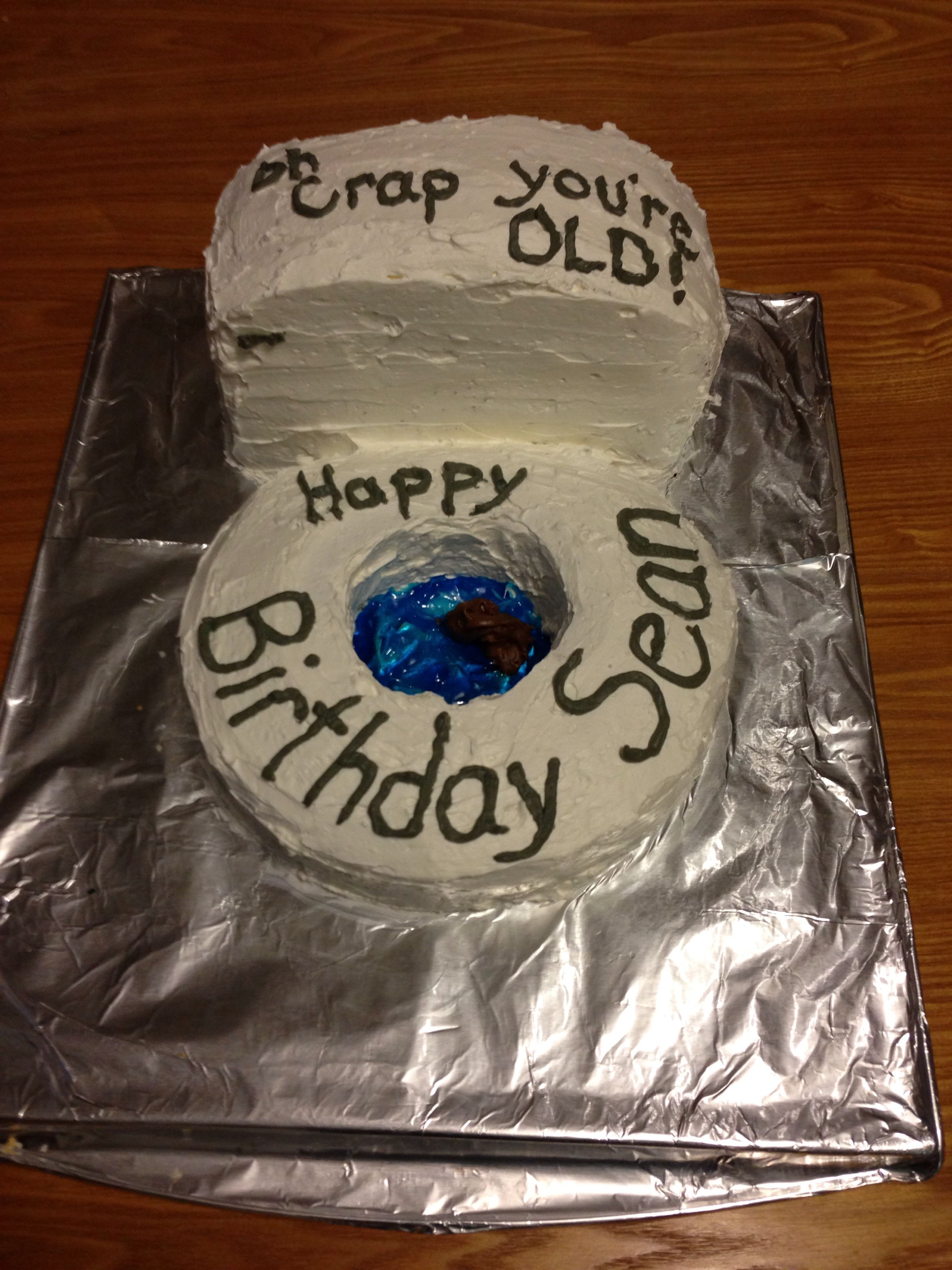 Fun Birthday Cake Idea 40th 50th 60th I Uses 1 Round Pan Square Cut In Half Stacked Also Used Melted Chocolate For The Final Touch