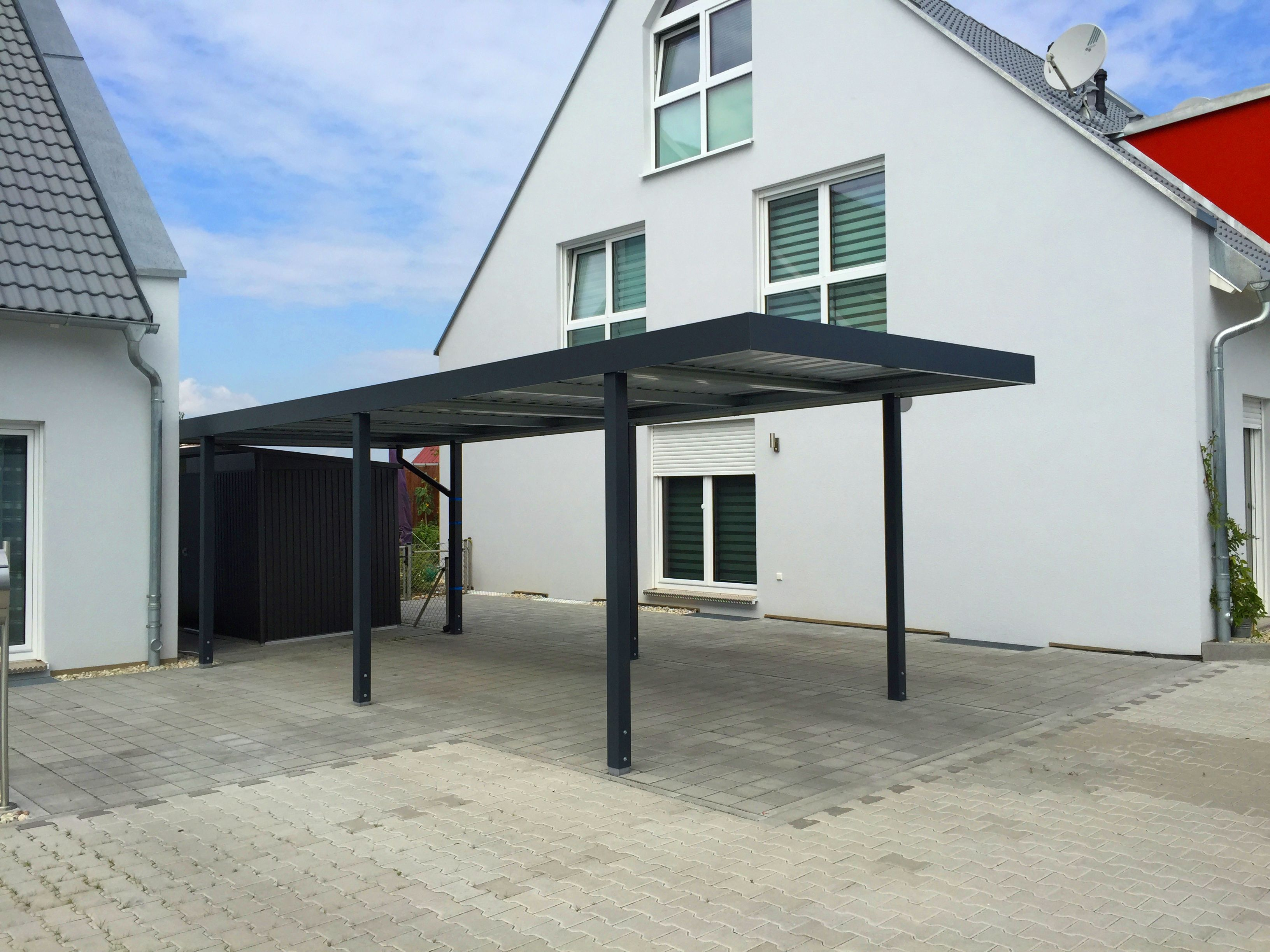 myport einzelcarport in anthrazit schlicht und elegant carport carports doppelcarport. Black Bedroom Furniture Sets. Home Design Ideas