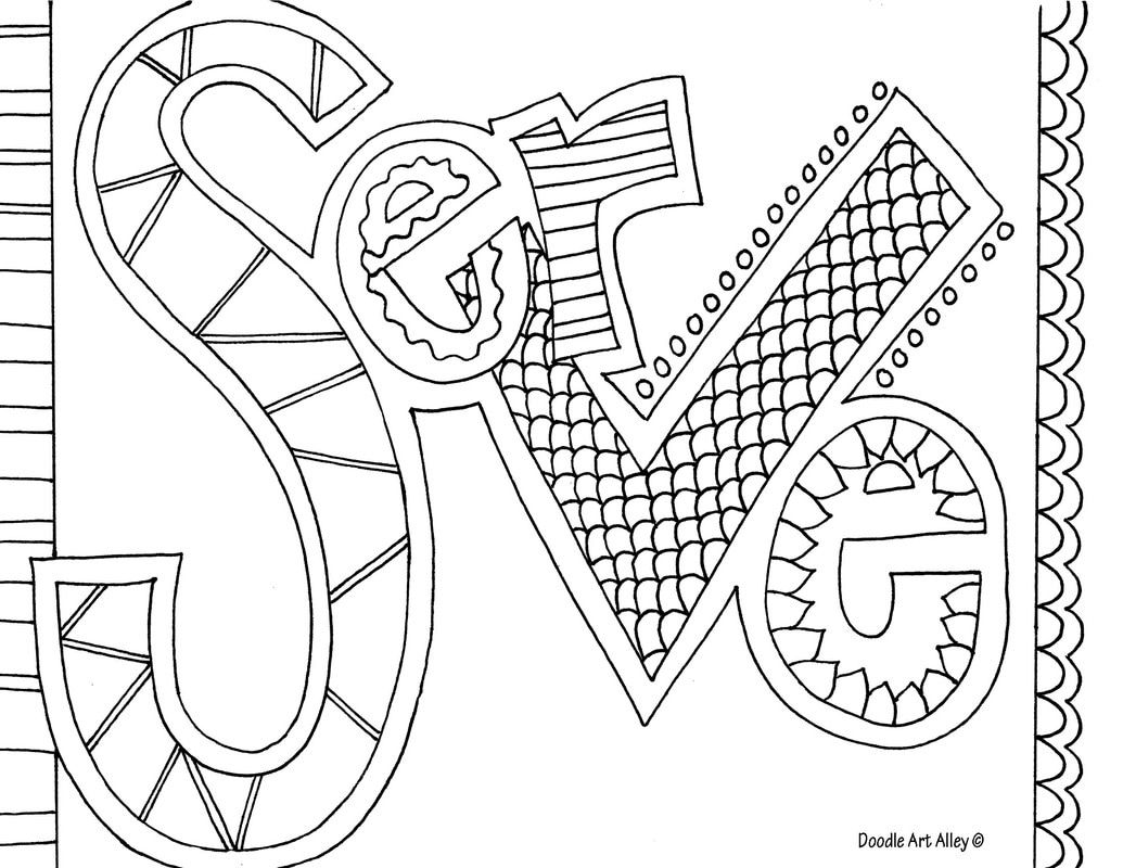 Word Coloring pages Doodle Art Alley 2019 Leader in Me
