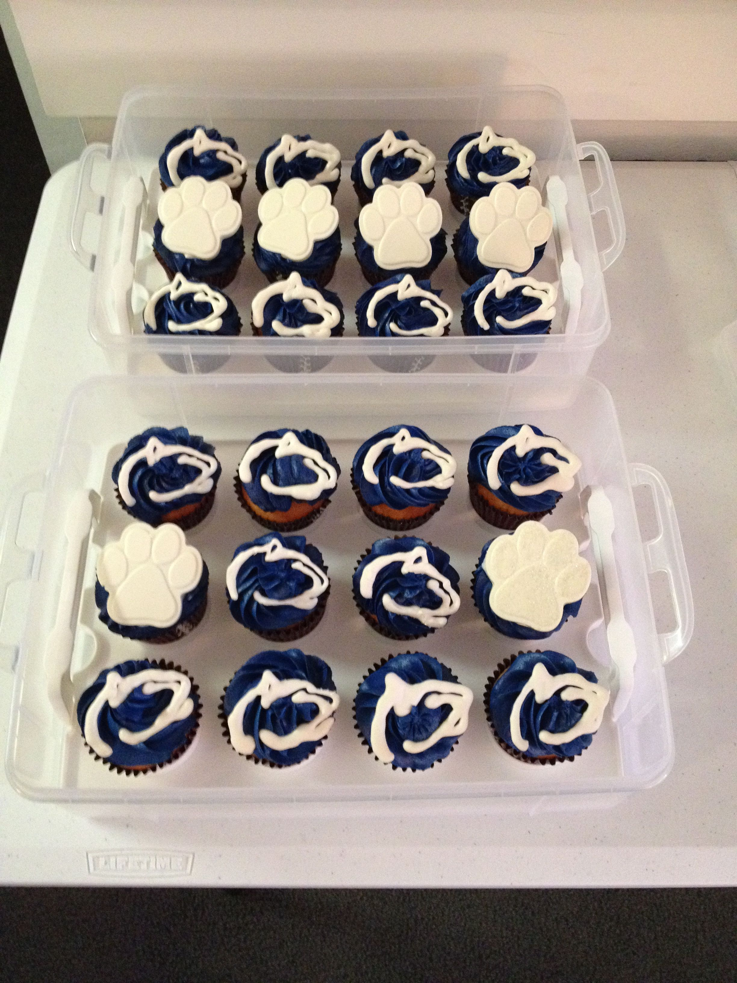 My Penn State cupcakes for our tailgate. | Penn State | Pinterest