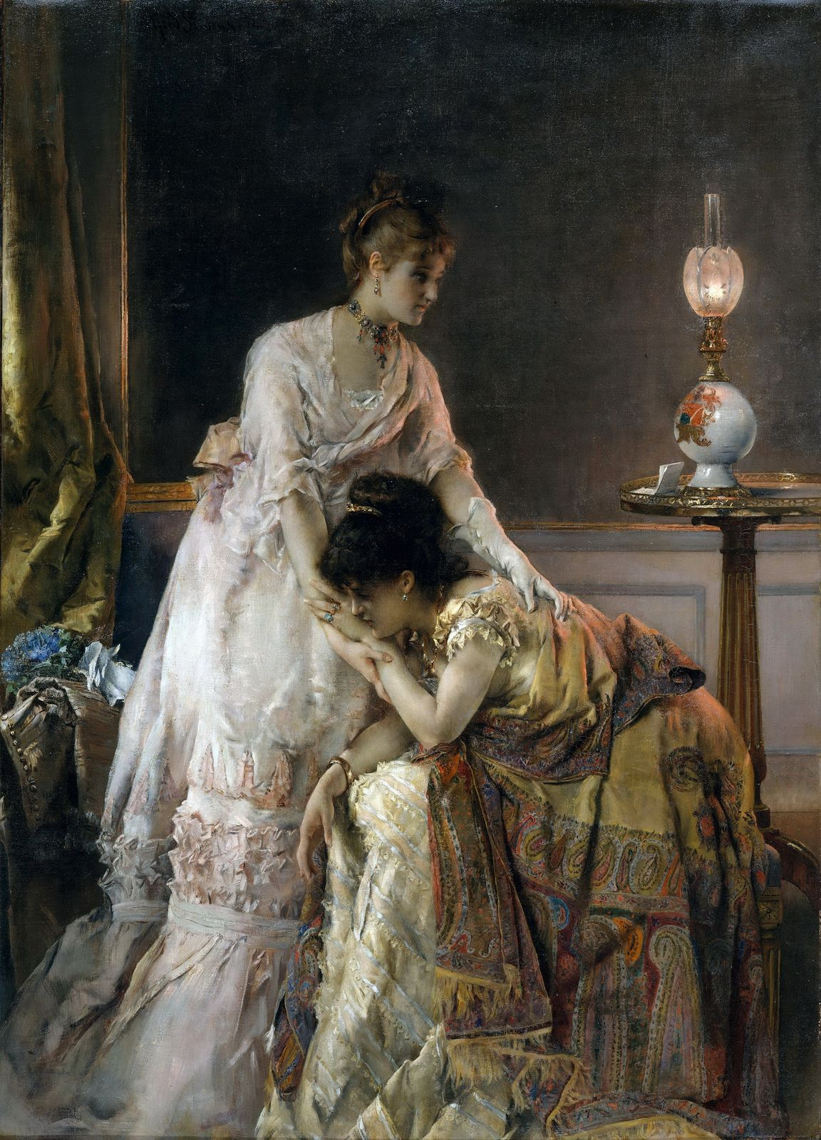 After the Ball (also known as Confidence)  Alfred Stevens