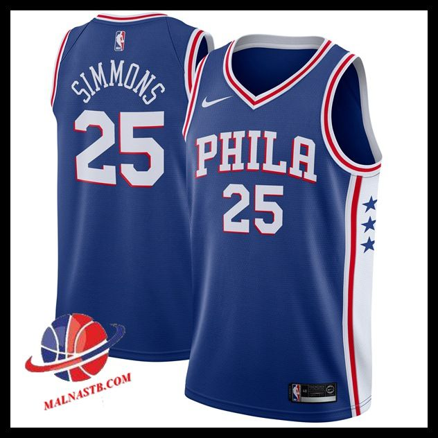 maillot nba swingman pas cher, Maillot NBA Philadelphia 76ers 2017/2018