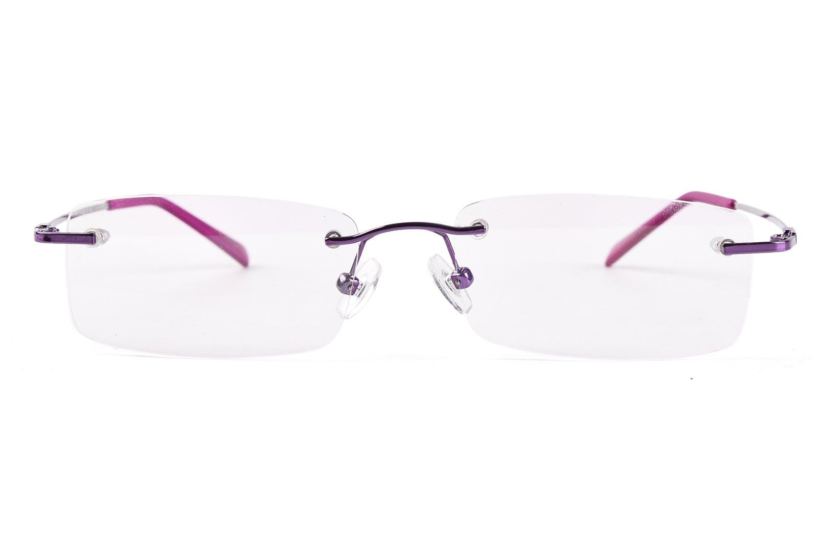 0f318c6656f Agstum Titanium Alloy Flexible Rimless Frame Prescription Eyeglasses Purple     You can get more details