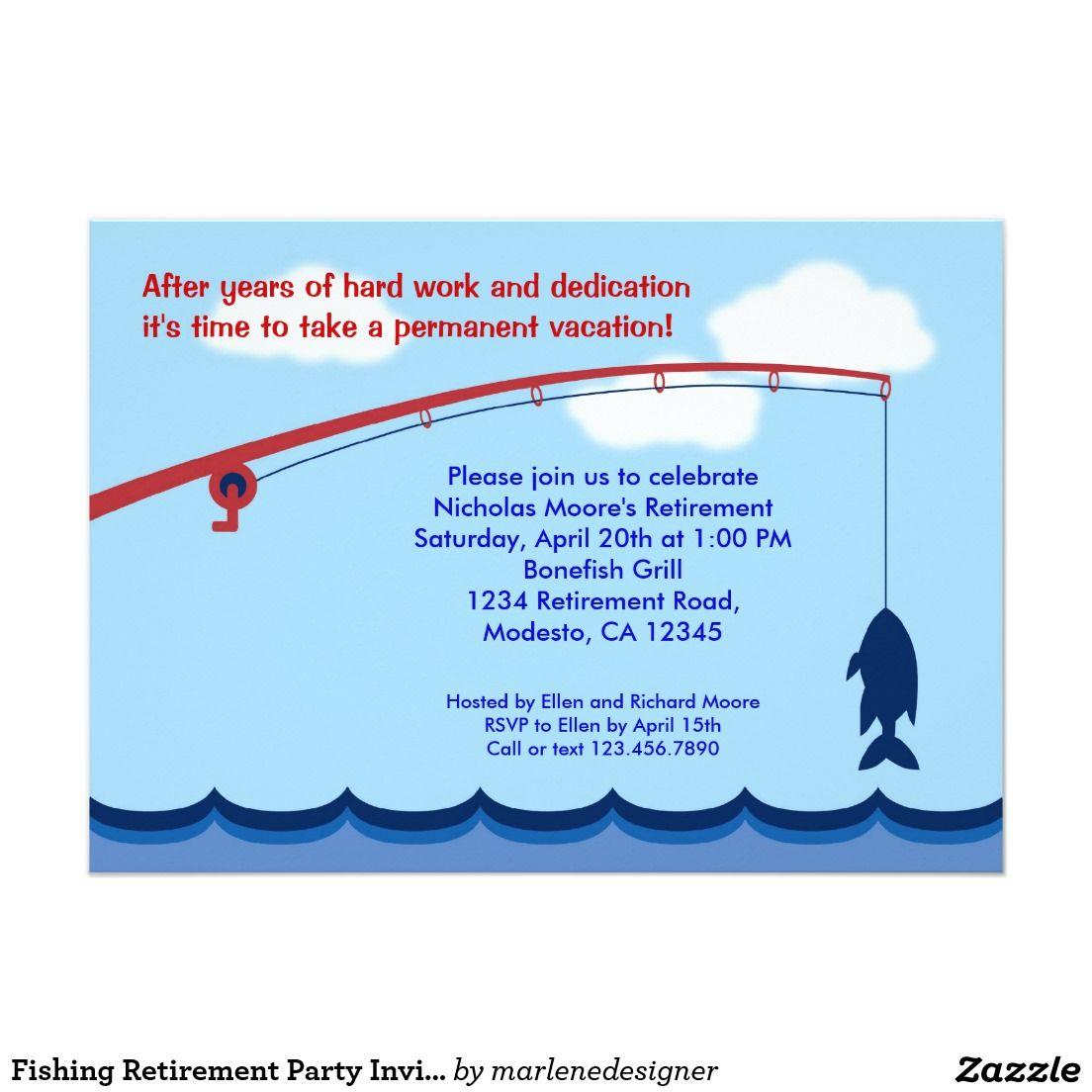 Fishing Retirement Party Invitation | Retirement party | Pinterest ...