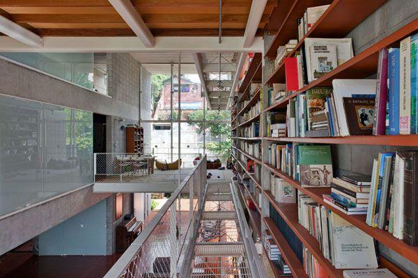 Concrete pad showcases fascinating library design in Brazil