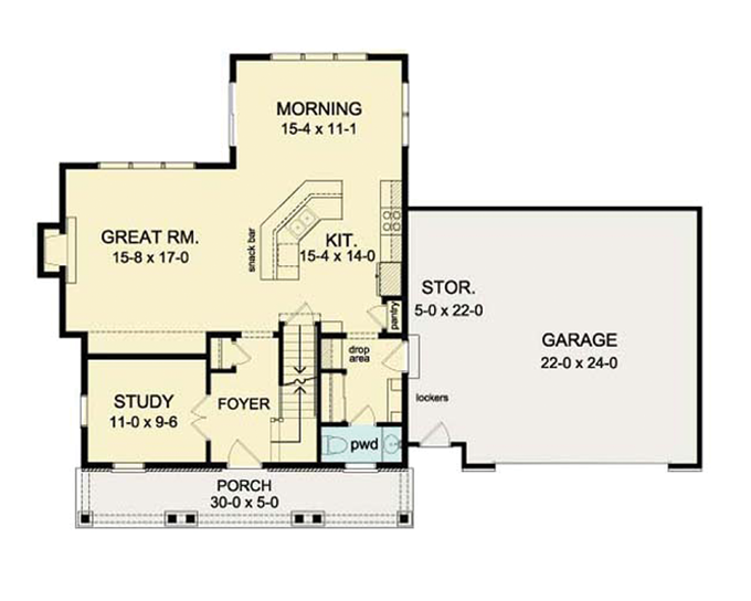 1970 sqft floor plans colonial pinterest for Southern colonial floor plans