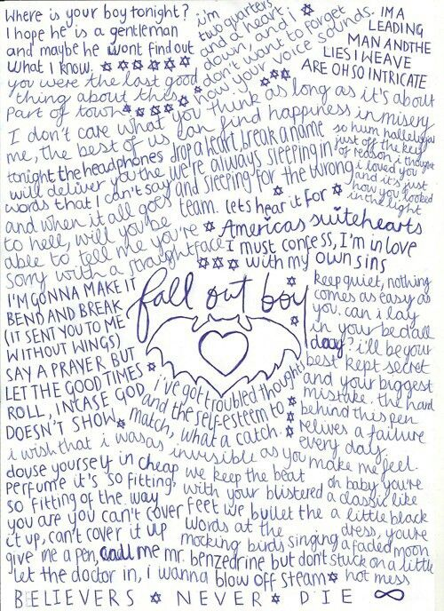 Fall Out Boy♥♥ | Fall Out Boy | Fall out boy lyrics, Fall
