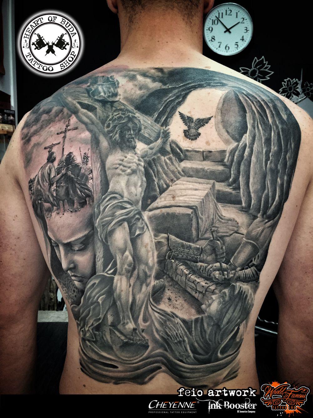 33a3fec0b6d4a Jesus Christ crucifixion tattoo Genesis 3, Christian Tattoos, Back Tattoos, Cool  Tattoos,