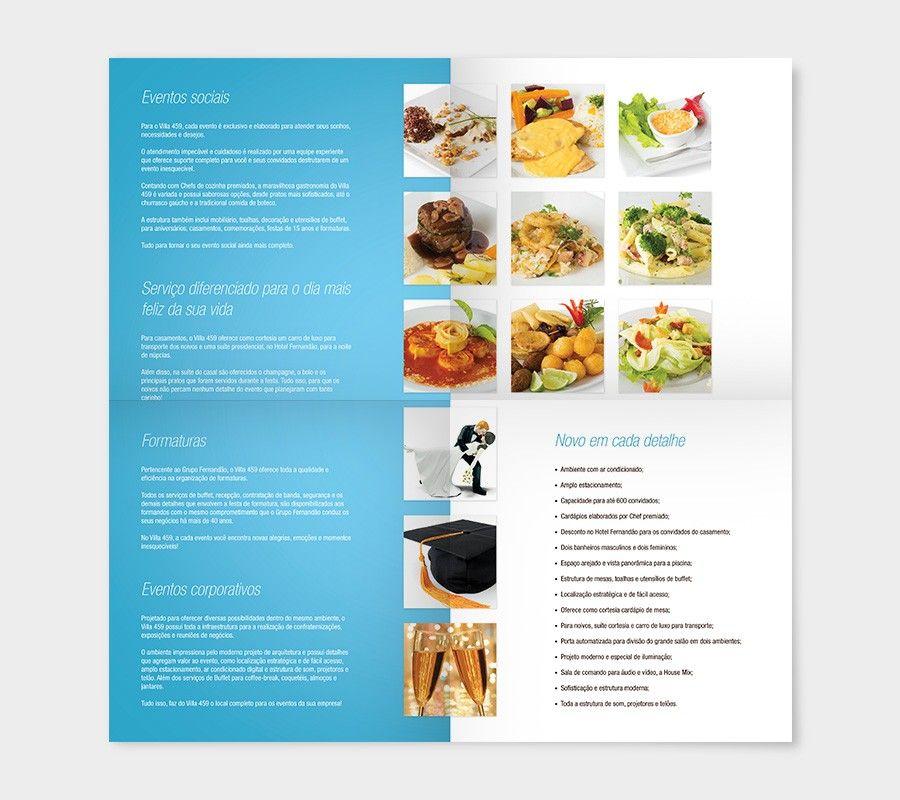 Cliente Villa 459 Peça Folder (aberto) Eventos