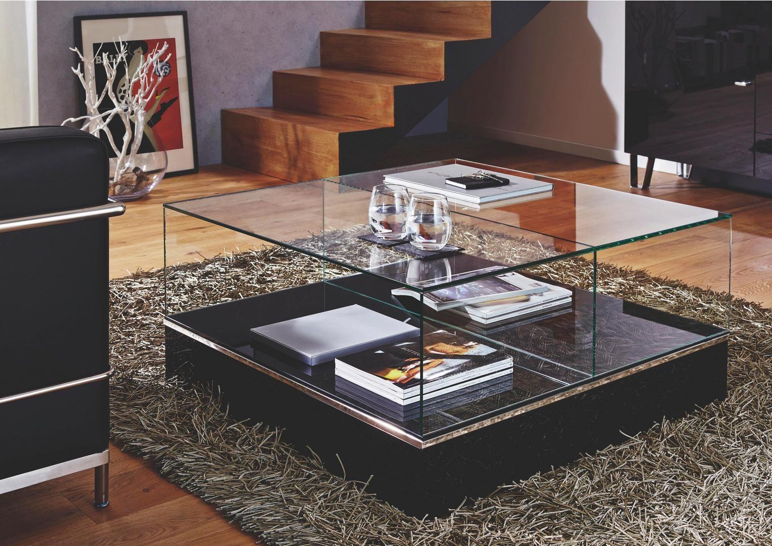 Eleganter Quadratischer Couchtisch Aus Glas Couchtisch Glas