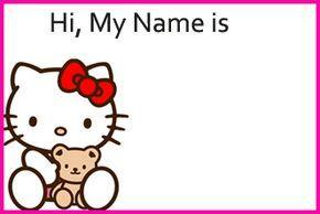 free printable hello kitty name tags | hello kitty themes, hello kitty printables, hello kitty